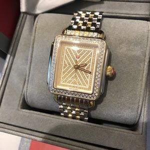 🔥🔥 limited ed Michele two tone diamond deco new